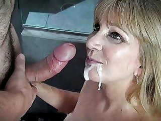 blowjob,mature,facial